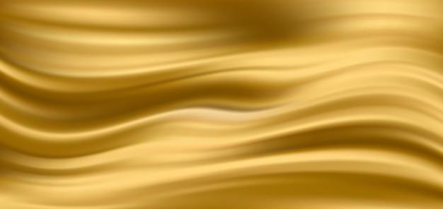 Tło złoto jedwabne tkaniny satynowe