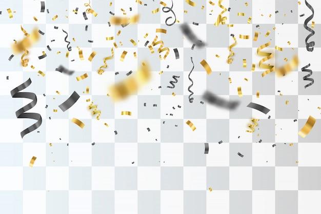 Tło złotym konfetti