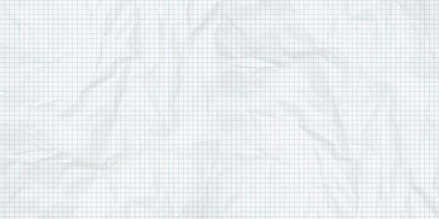 Tło zmięty arkusz papieru milimetrowego.