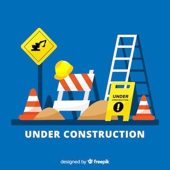 Tło znak płaski w budowie