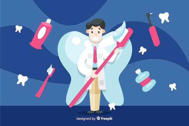 Tło znaków dentysty