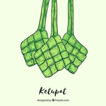 Tło żywności ketupat