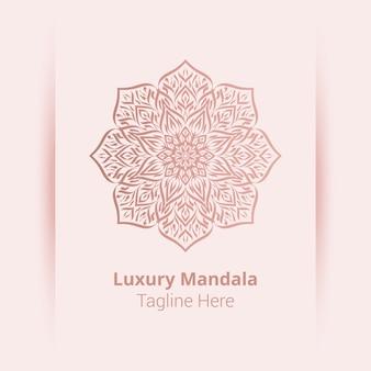 To jest luksusowe ozdobne tło logo mandali, styl arabeski.