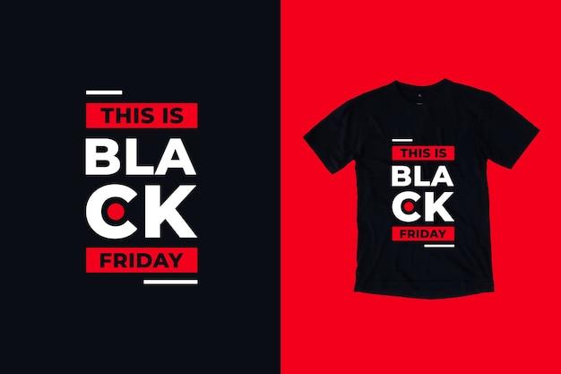 To jest projekt koszulki z cytatami z czarnego piątku