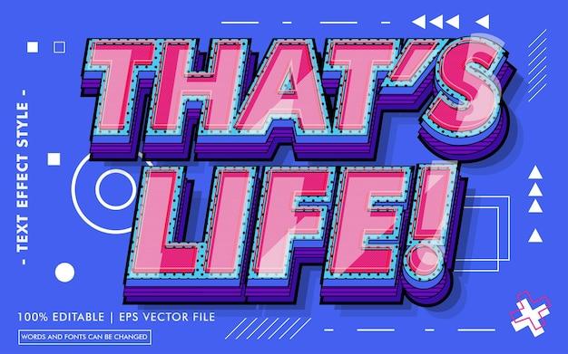 To jest życie! styl efektów tekstowych
