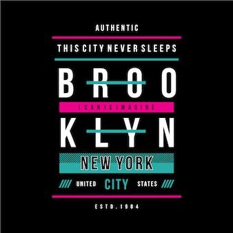 To miasto nigdy nie śpi w graficznym, chłodnym kolorze