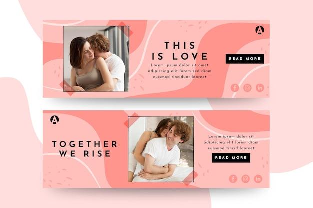 To są projekty banerów miłości