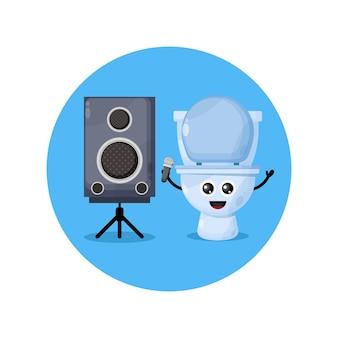 Toaleta karaoke słodka maskotka postaci