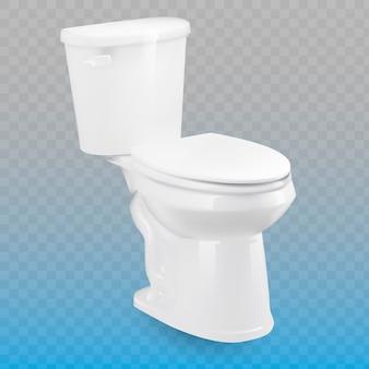 Toaleta odizolowywająca na przejrzystym tle.