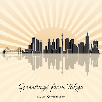 Tokyo skyline wektor