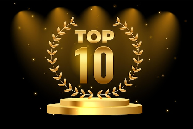 Top 10 najlepsza nagroda na podium