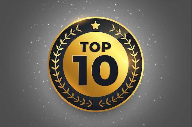 Top 10 najlepszy projekt symbolu złotej odznaki z nagrodami