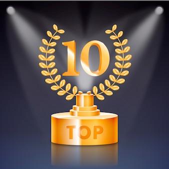 Top 10 najlepszych nagród na podium