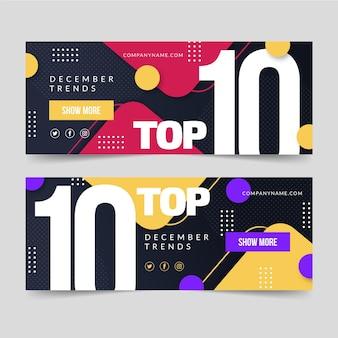 Top 10 szablonów banerów rankingowych