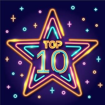 Top 10 szablonów neonów