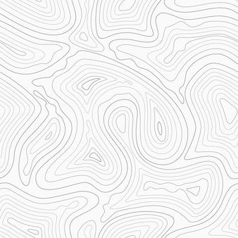 Topograficzne linie konturu mapę wzór.