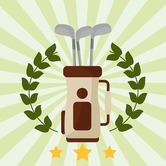 Torba golfowa worek godło wieniec laurowy