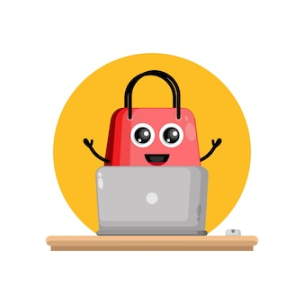 Torba na zakupy na laptopa urocza maskotka postaci
