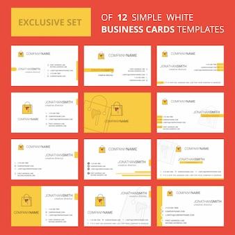 Torba na zakupy szablon karty busienss. edytowalne logo creative i wizytówka