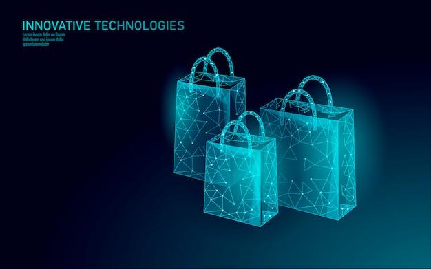 Torba na zakupy . technologia rynku handlu internetowego. kup teraz szablon. sprzedaż mobilna