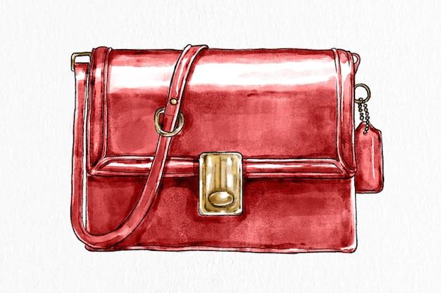 Torebka damska wektor ręcznie rysowane ilustracja moda