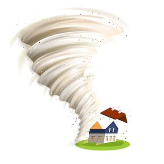 Tornado damages house