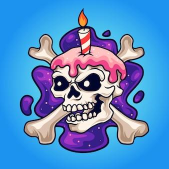 Tort urodzinowy czaszki