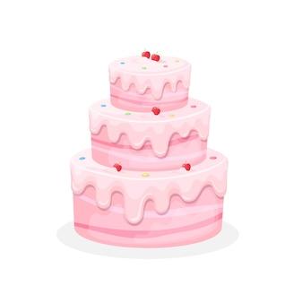 Tort urodzinowy iillustration słodkie ciasta pieczone