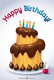 Tort urodzinowy karta