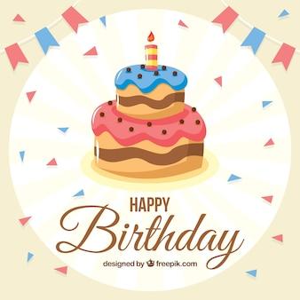 Tort urodzinowy w tle
