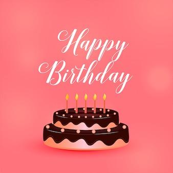 Tort urodzinowy wszystkiego najlepszego z świece