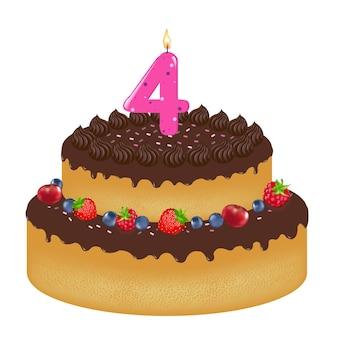 Tort urodzinowy ze świeczką