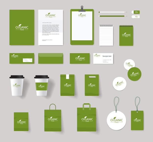 Tożsamość marki żywności ekologicznej z projektem logo