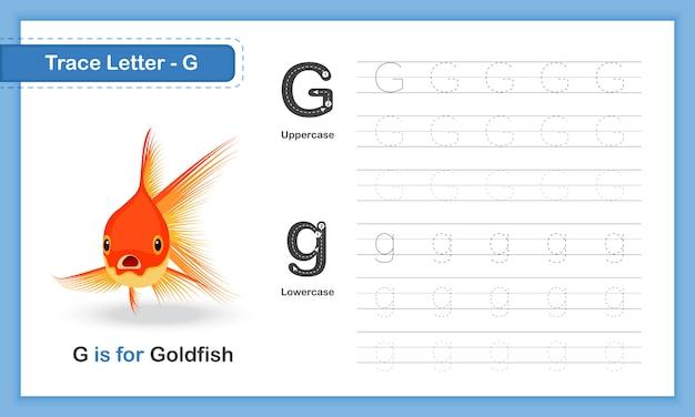 Trace letter-g: az animal, praktyczny podręcznik do pisania