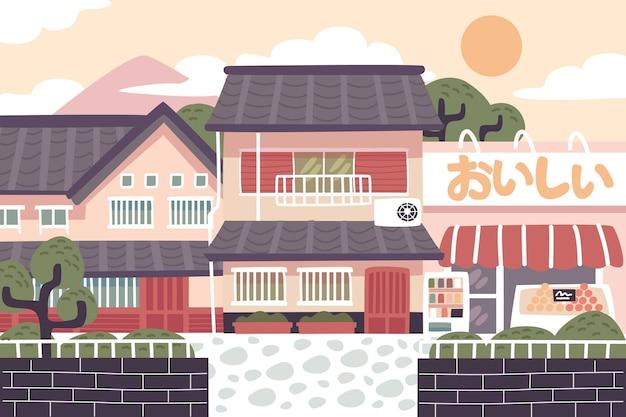 Tradycyjna japońska ulica