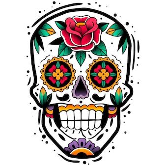 Tradycyjna meksykańska czaszka z cukru