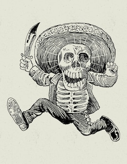 Tradycyjna meksykańska czaszka