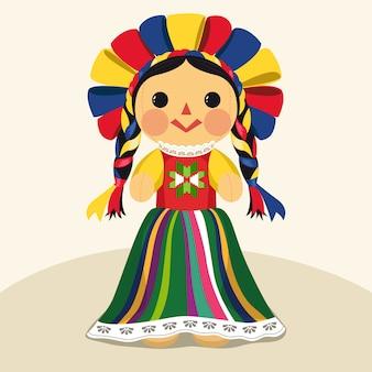 Tradycyjna meksykańska lalka maria