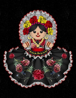 Tradycyjna meksykańska lalka