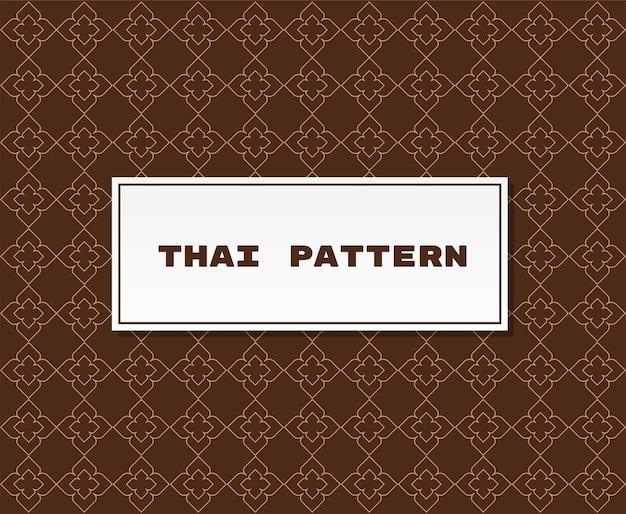 Tradycyjna tajska ilustracja wzór