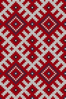 Tradycyjne bałtyckie dziewiarskie szwu