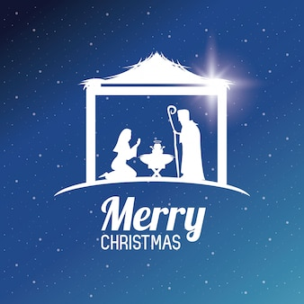 Tradycyjne chrześcijańskie boże narodzenie