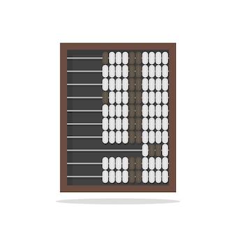 Tradycyjne drewniane liczydło na białym tle wektor