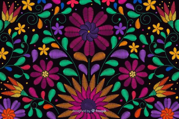 Tradycyjne meksykańskie hafty tło