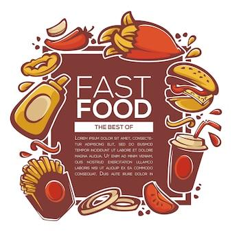 Tradycyjne najlepsze amerykańskie składniki fastfood