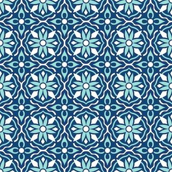 Tradycyjne ozdobne portugalskie płytki azulejos. etniczny ornament ludowy. vintage wzór. majolika.