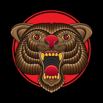 Tradycyjne tatuaże z głową niedźwiedzia