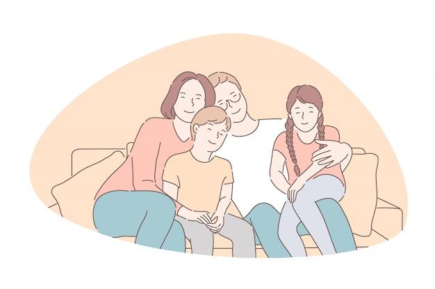 Tradycyjne wartości, łączenie, rodzinna idylla