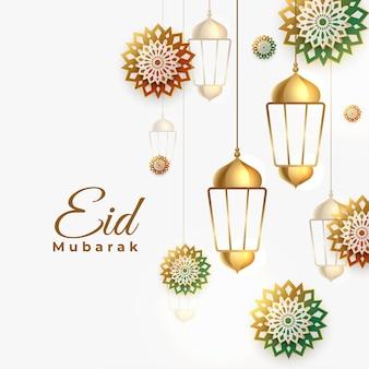 Tradycyjny arabski styl eid mubarak projekt tła