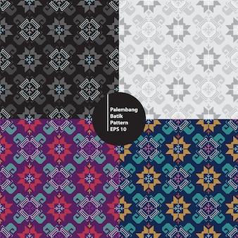 Tradycyjny batik palembang południowy sumatera indonezja bezszwowe tło wzór
